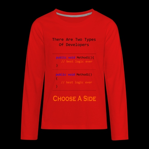 Code Styling Preference Shirt - Kids' Premium Long Sleeve T-Shirt