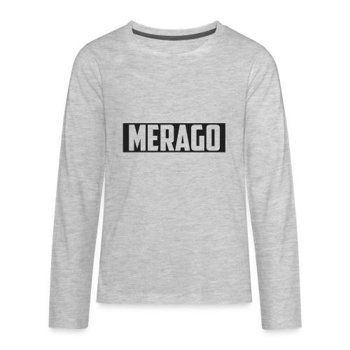 Transparent_Merago_Text - Kids' Premium Long Sleeve T-Shirt