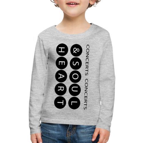 Heart & Soul concerts text design 2021 flip - Kids' Premium Long Sleeve T-Shirt