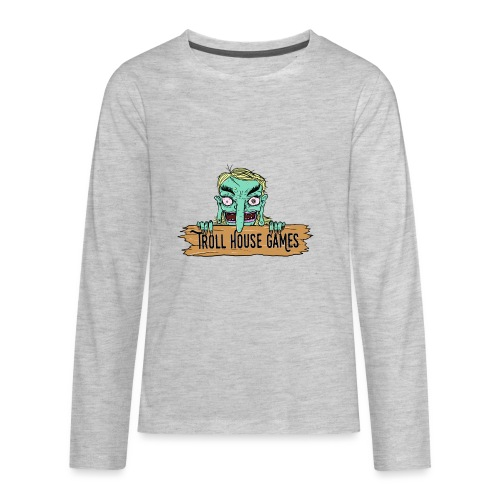Troll House Games Cartoon Logo - Kids' Premium Long Sleeve T-Shirt