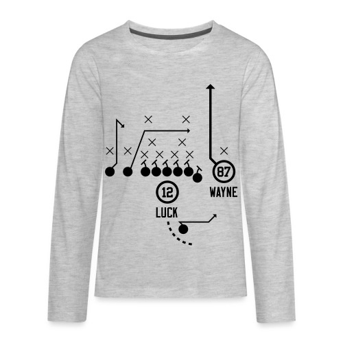 X O Andrew Luck to Reggie Wayne - Kids' Premium Long Sleeve T-Shirt