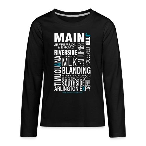 Jacksonville Streets - Kids' Premium Long Sleeve T-Shirt