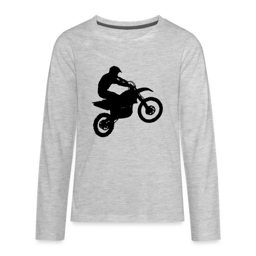 Motocross Dirt biker - Kids' Premium Long Sleeve T-Shirt