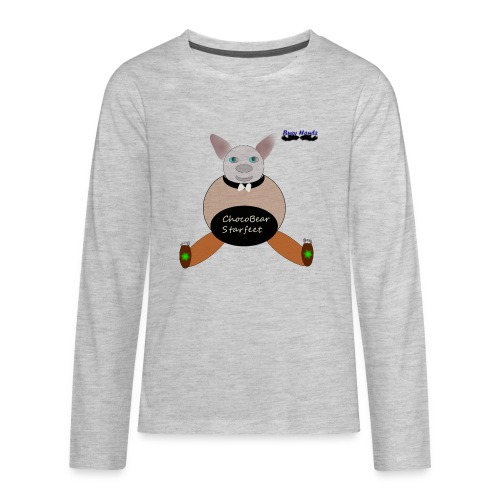 Girls ChocoBear Flare Shirt - Kids' Premium Long Sleeve T-Shirt