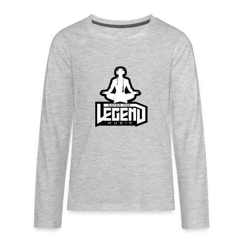 Enter The Legend Music B/W - Kids' Premium Long Sleeve T-Shirt