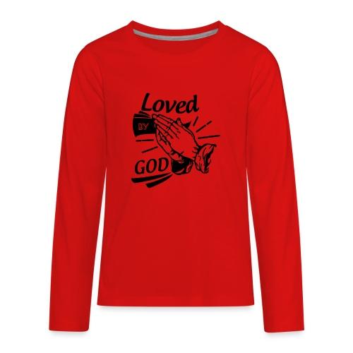 Loved By God (Black Letters) - Kids' Premium Long Sleeve T-Shirt
