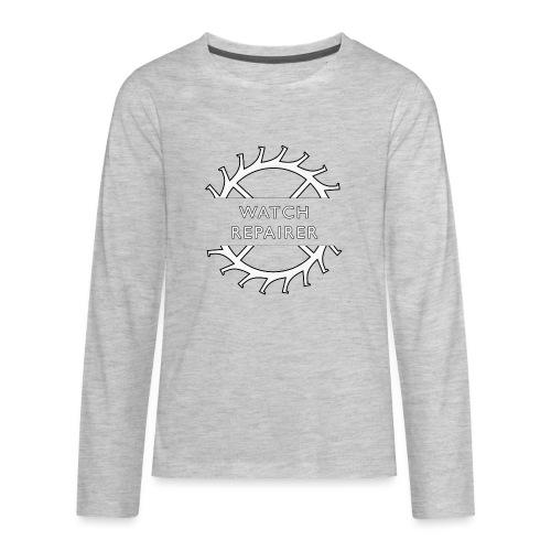 Watch Repairer Emblem - Kids' Premium Long Sleeve T-Shirt
