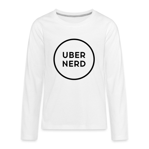 uber nerd logo - Kids' Premium Long Sleeve T-Shirt