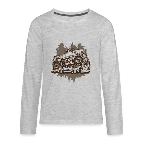 Monster Truck Grungy - Kids' Premium Long Sleeve T-Shirt