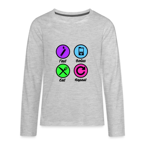 Test Bolus Eat Repeat - Kids' Premium Long Sleeve T-Shirt