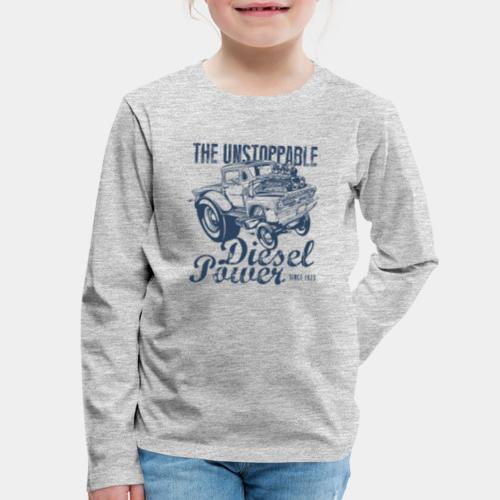 diesel power engine car - Kids' Premium Long Sleeve T-Shirt