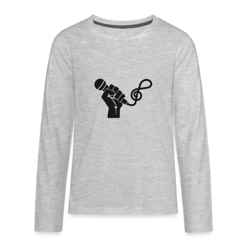 music microphone fist - Kids' Premium Long Sleeve T-Shirt