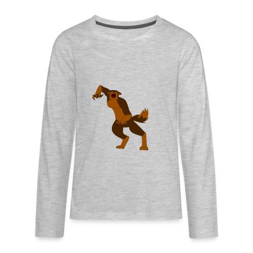 Werewolf Kiba - Kids' Premium Long Sleeve T-Shirt