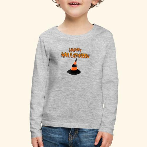 HAPPY HALLOWEEN WITCH HAT TEE - Kids' Premium Long Sleeve T-Shirt