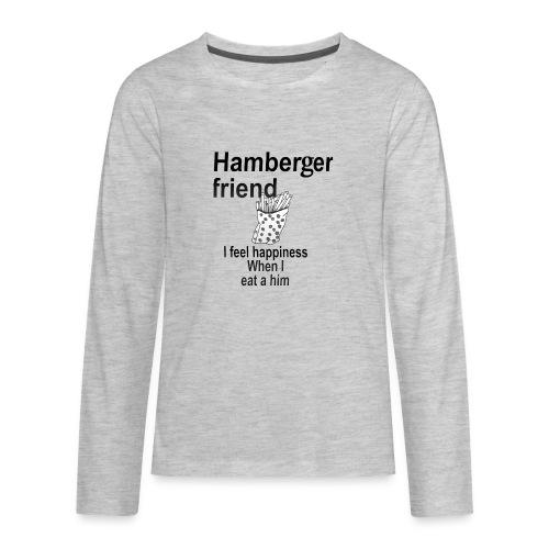 Hamberger friend - Kids' Premium Long Sleeve T-Shirt