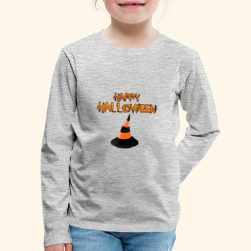 HAPPY HALLOWEEN WITCH HAT TEE - Kids' Premium Long Sleeve T-Shirt