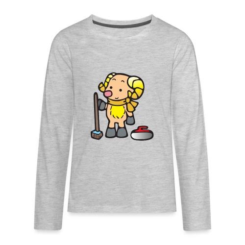 Bighorn Sheep Curling - Kids' Premium Long Sleeve T-Shirt