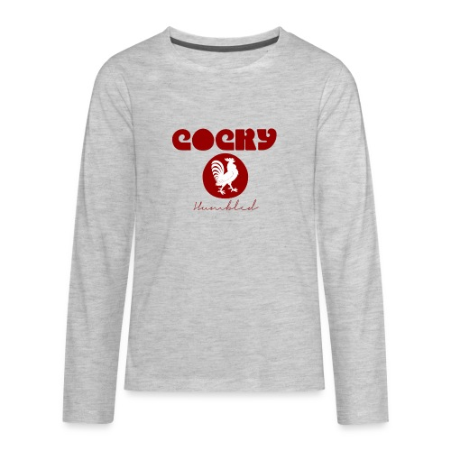 Red Humble Cock 1 - Kids' Premium Long Sleeve T-Shirt