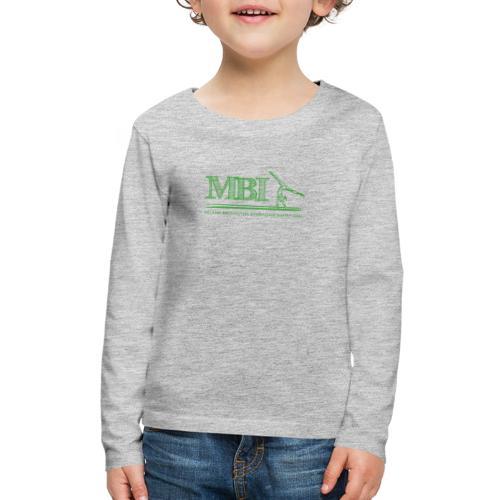 Green MBI sketch logo - Kids' Premium Long Sleeve T-Shirt