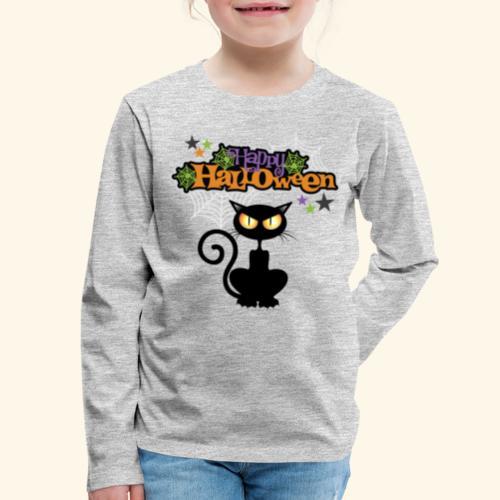 happy holloween BLACCK CAT TEE - Kids' Premium Long Sleeve T-Shirt