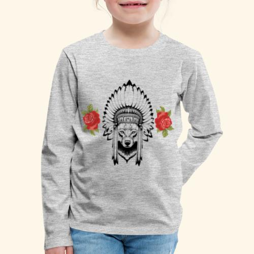 WOLF KING - Kids' Premium Long Sleeve T-Shirt