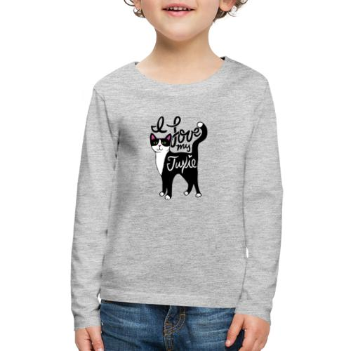 I love my tuxedo cat - Kids' Premium Long Sleeve T-Shirt