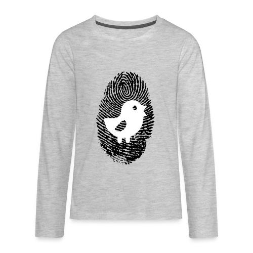 Chick Finger Print - Kids' Premium Long Sleeve T-Shirt