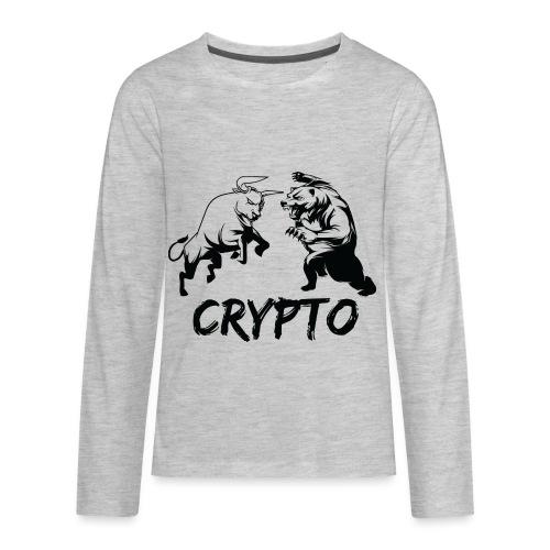 CryptoBattle Black - Kids' Premium Long Sleeve T-Shirt