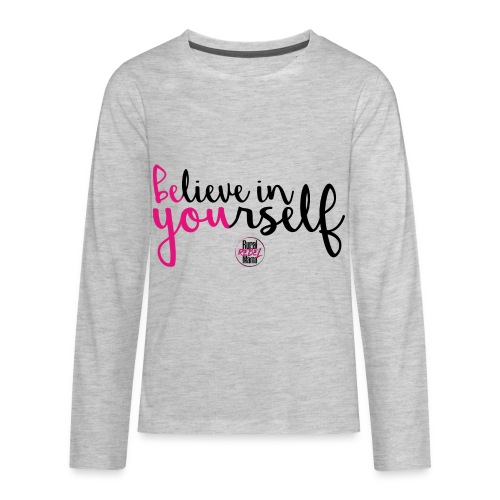BE YOU shirt design w logo - Kids' Premium Long Sleeve T-Shirt
