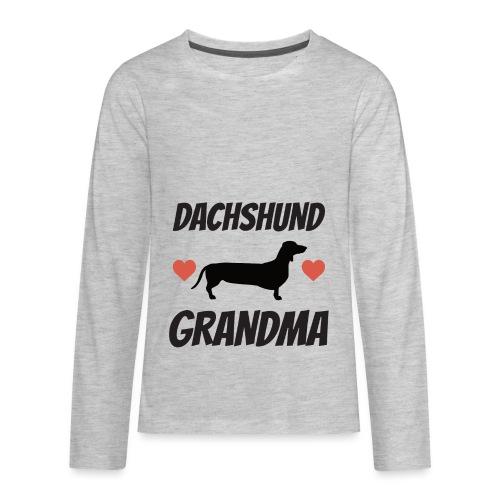 Dachshund Grandma - Kids' Premium Long Sleeve T-Shirt
