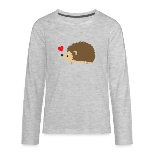Hedgehog with Heart - Kids' Premium Long Sleeve T-Shirt