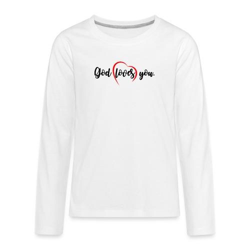 God Loves You 102 - Kids' Premium Long Sleeve T-Shirt