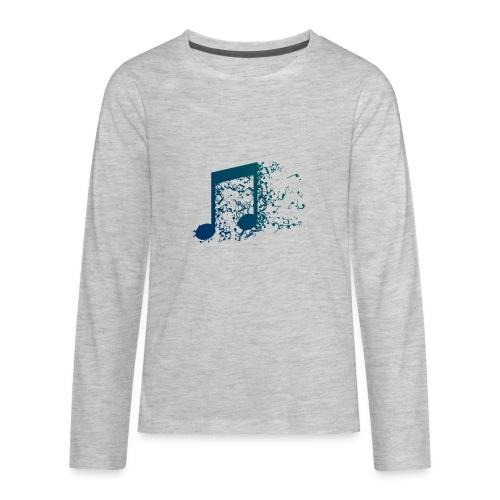 Music note spill - Kids' Premium Long Sleeve T-Shirt