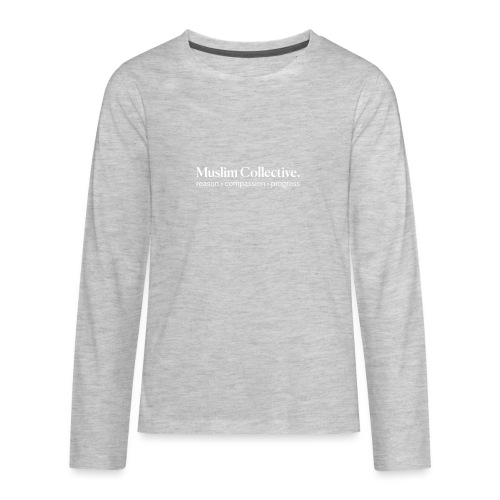 Muslim Collective Logo + tagline - Kids' Premium Long Sleeve T-Shirt