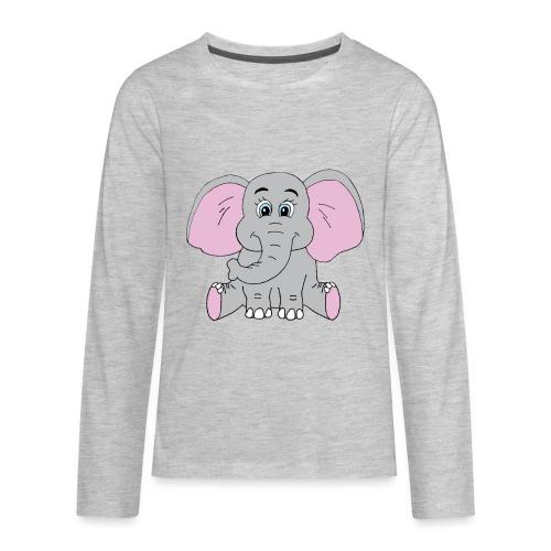 Cute Baby Elephant - Kids' Premium Long Sleeve T-Shirt