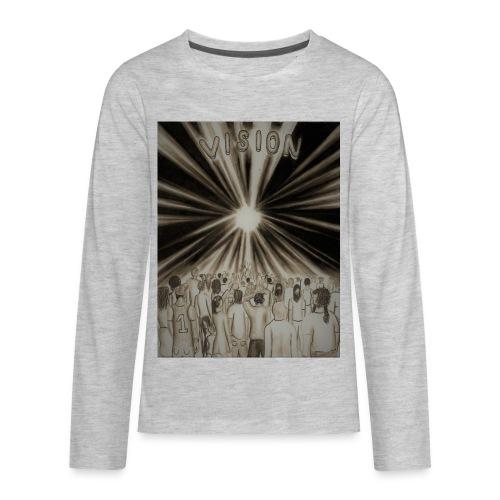 Black_and_White_Vision2 - Kids' Premium Long Sleeve T-Shirt