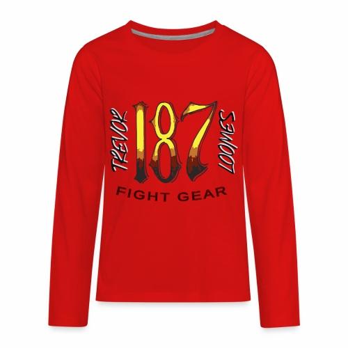 Coloured Trevor Loomes 187 Fight Gear Logo - Kids' Premium Long Sleeve T-Shirt