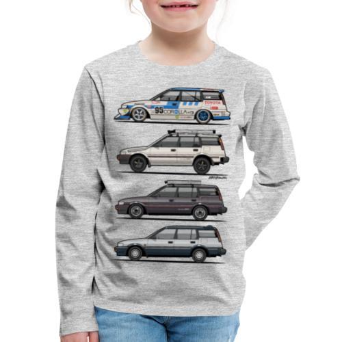 design_toyota_corolla_e90 - Kids' Premium Long Sleeve T-Shirt