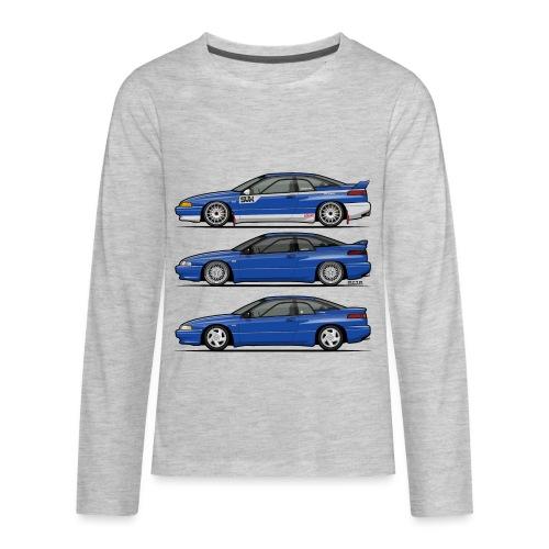 Subie Alcyone SVX Laguna Blue Pearl Trio - Kids' Premium Long Sleeve T-Shirt