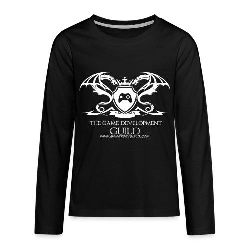 White Game Development Guild Crest - Kids' Premium Long Sleeve T-Shirt