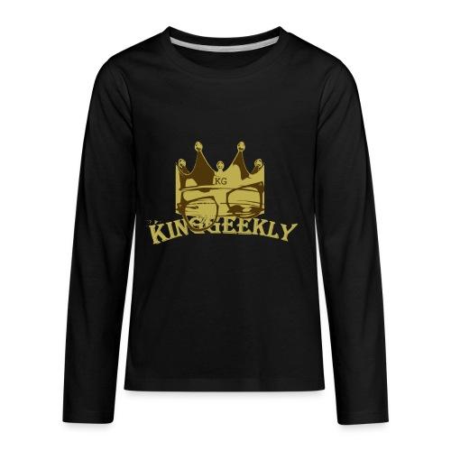 KingGeekly Gold - Kids' Premium Long Sleeve T-Shirt