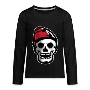 Custom Skull With Ice Cap Merch! - Kids' Premium Long Sleeve T-Shirt