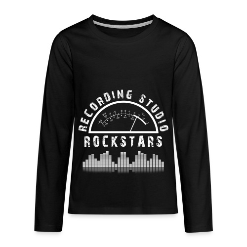 Recording Studio Rockstars - White Logo - Kids' Premium Long Sleeve T-Shirt