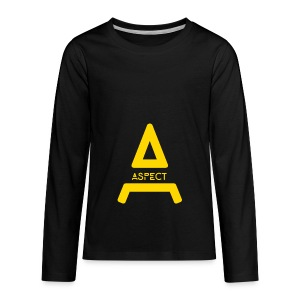 Limited Edition Gold Aspect Logo Sweatshirt - Kids' Premium Long Sleeve T-Shirt