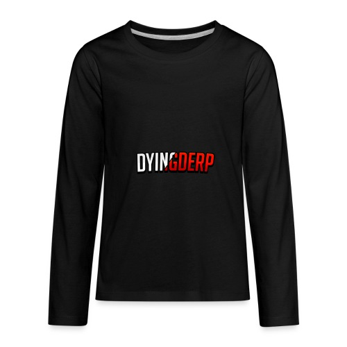 DyingDerp Offical Merch Text - Kids' Premium Long Sleeve T-Shirt
