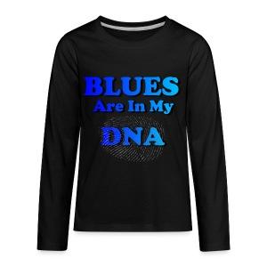 Blues DNA - Kids' Premium Long Sleeve T-Shirt