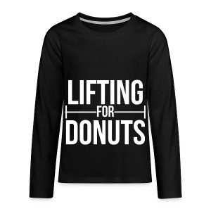 Lifting For Donuts Men - Kids' Premium Long Sleeve T-Shirt