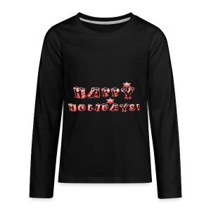HAPPY HOLIDAYS! design for kids. - Kids' Premium Long Sleeve T-Shirt