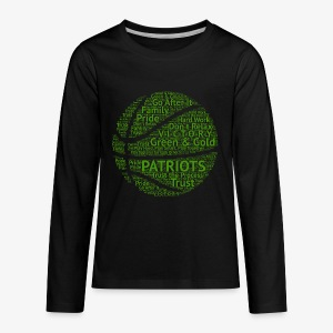 Pats Basketball Green - Kids' Premium Long Sleeve T-Shirt