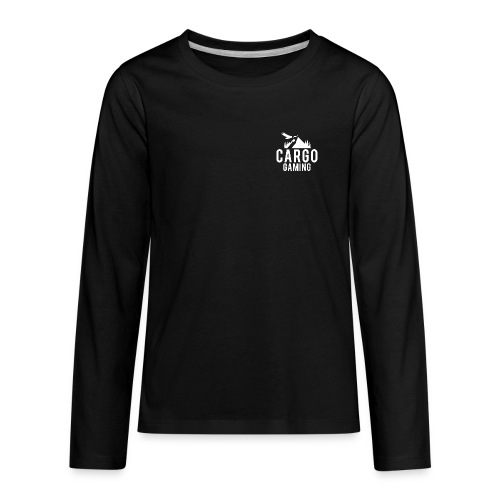 Cargo Gaming White Logo - Kids' Premium Long Sleeve T-Shirt